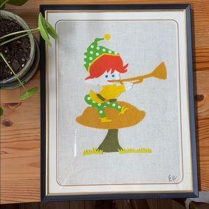 Vintage Fleece Elf Artwork